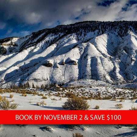 Yellowstone in Winter Early Booking Discount