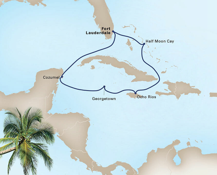 Western Caribbean Cruise Map