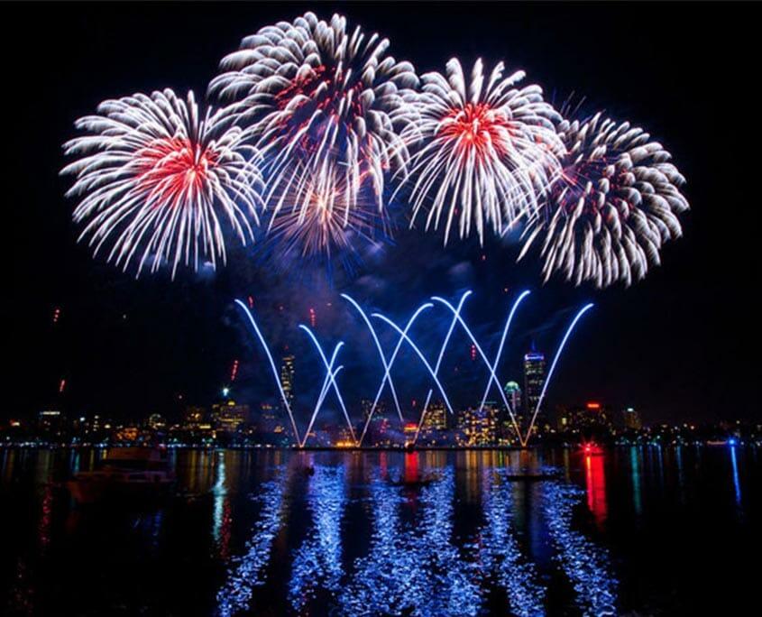 Fireworks in Boston