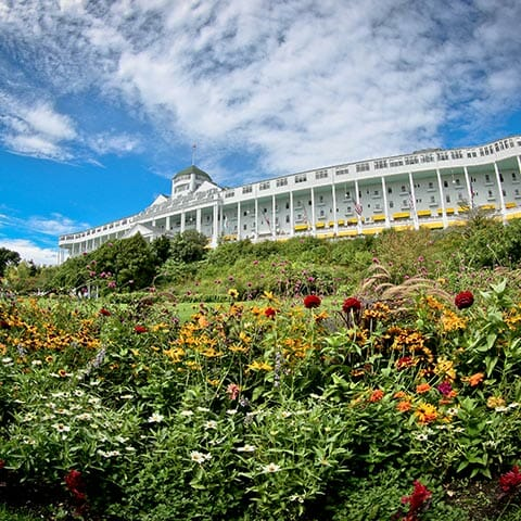 Lilac Time on Mackinac Island