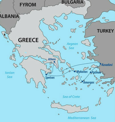 Northern Greek Isles Map