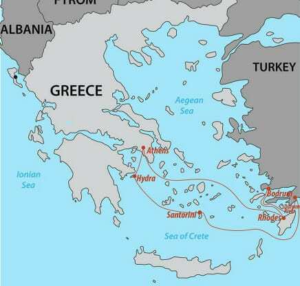Southern Greek Isles Map